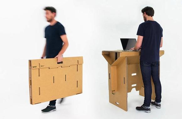 Refold: Der mobile, recycelbare Arbeitsplatz aus Pappe