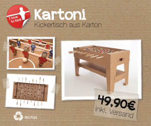 Kartoni - Kickertisch aus Karton