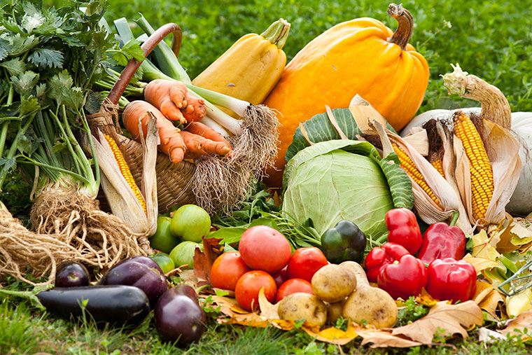Regionales Obst und Gemuese