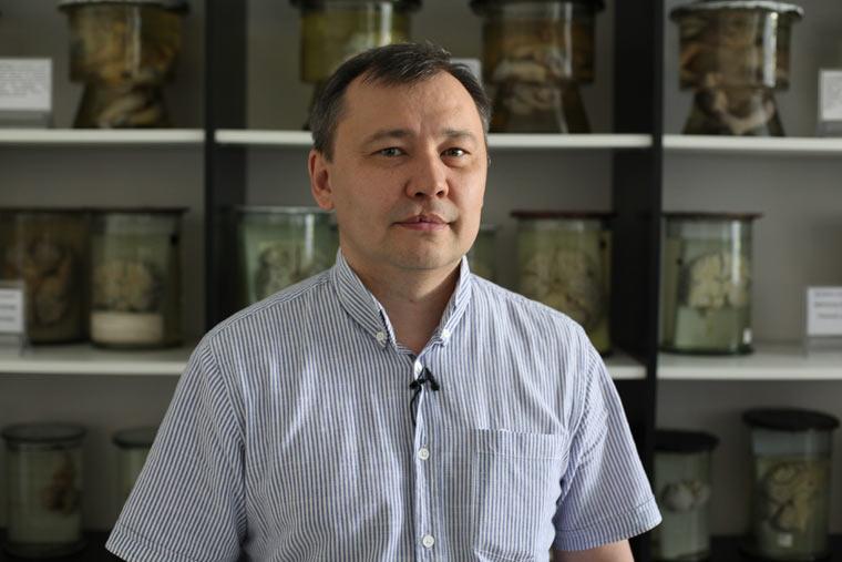 Dr. Talgat Muldagaliev, medizinischer Experte auf dem Gebiet der radioaktiven Verstrahlung