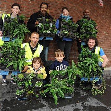Vertikale Gärten sorgen für gutes Klima