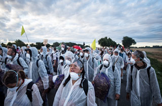 Klimacamp: Kreative Aktion gegen Braunkohle