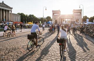 Kreatives Fahrrad Festival in München
