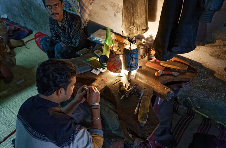 Indische Schuhfabriken katastrophale Arbeitsbedingungen