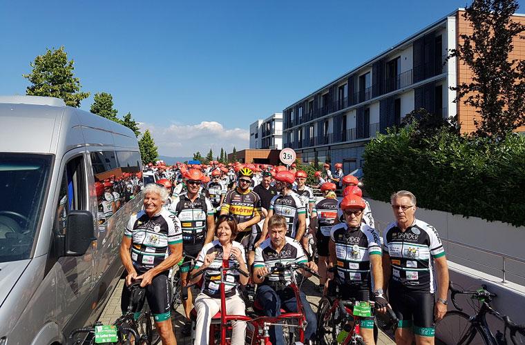 Vor Tour der Hoffnung in Mainz radeln für einen guten Zweck