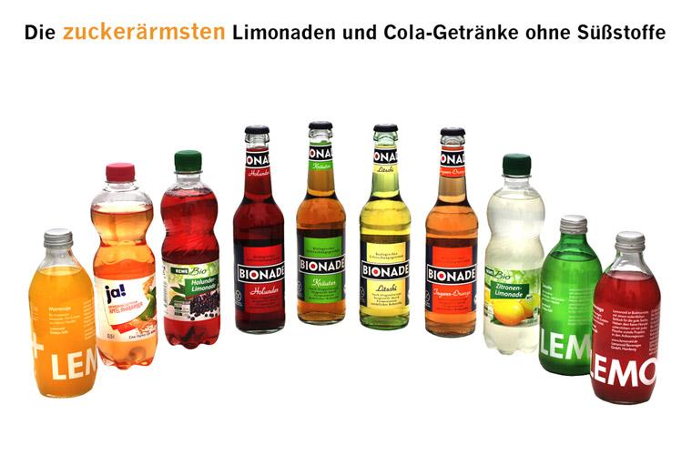 ein paar Limonaden haben weniger Zucker