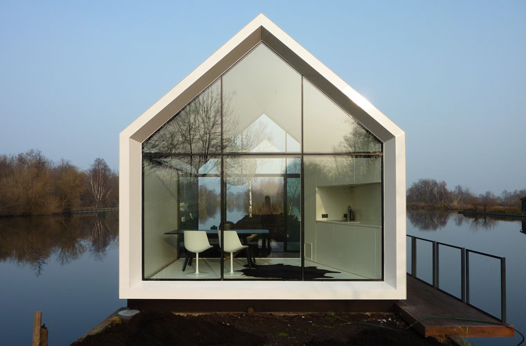 haus aus glas loosdrechtse r ckzug island house project 2by4 architects. Black Bedroom Furniture Sets. Home Design Ideas