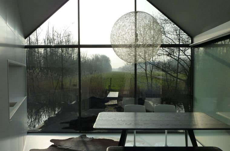 Rückzugsort, das Haus aus Glas