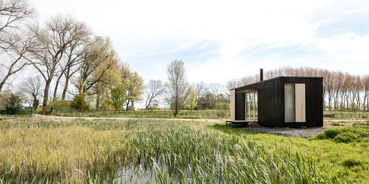 Kraft tanken in der nachhaltigen Luxus-Hütte