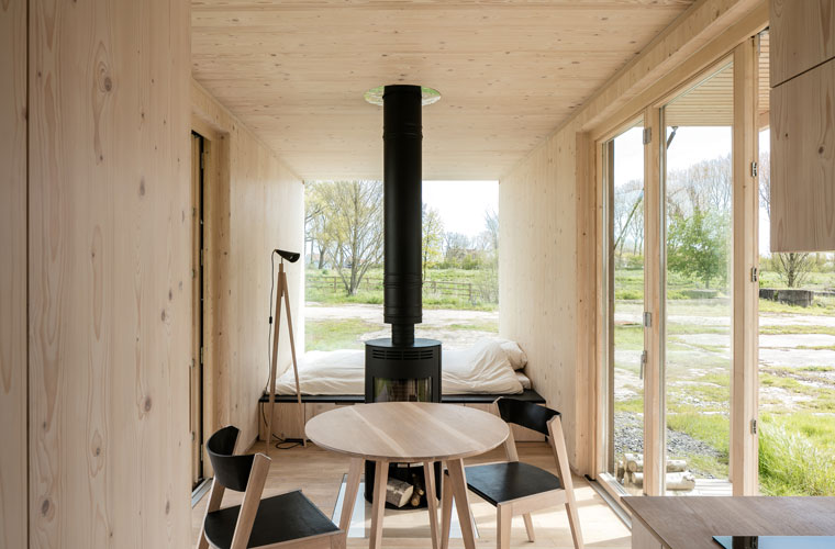 Luxus im Innenraum, minimal und nachhaltig, ARK Shelter