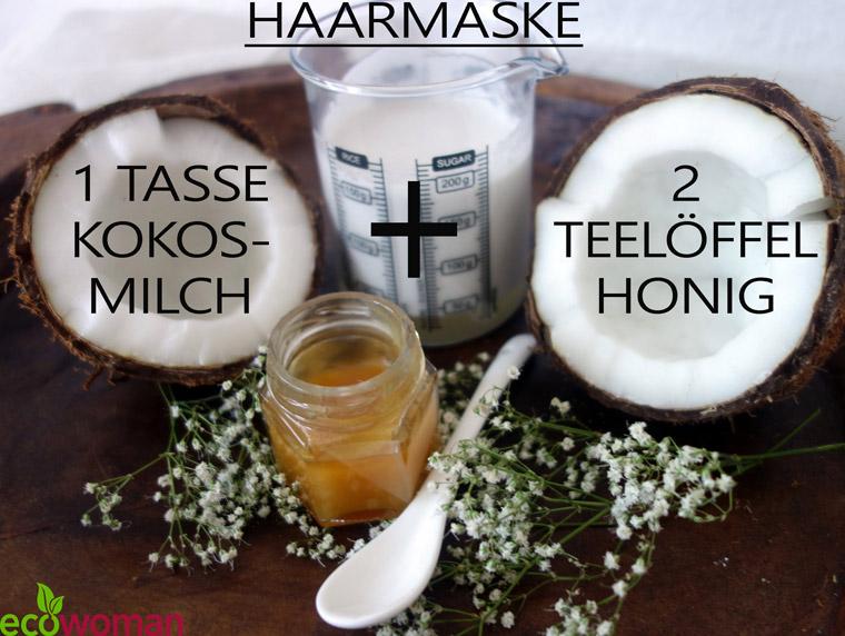 Die Maske für das Haar mit dem Honig auszuwaschen,