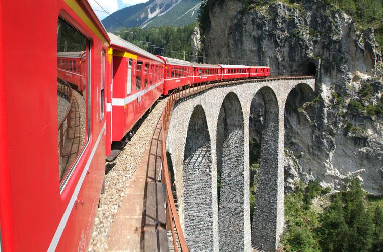 Berner Bahn, durch die Gletscher Welt