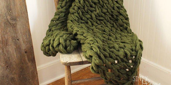 Armstricken für Anfänger: XXL Decke aus Wolle - mit Anleitung