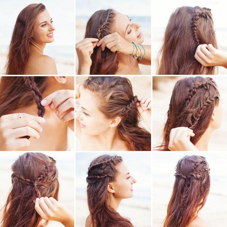 Haare schützen: Flechtfrisur als Schutz vor Wind und Sonne