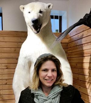 Stefanie Boehm mit Eisbär