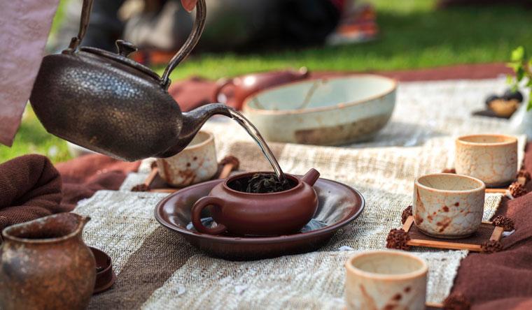 Teezeremonie für Gesundheit und Ausgleich der Seele