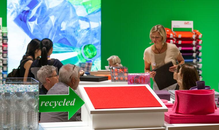 grüne Bewegung, Recycling, Tendence Frankfurt
