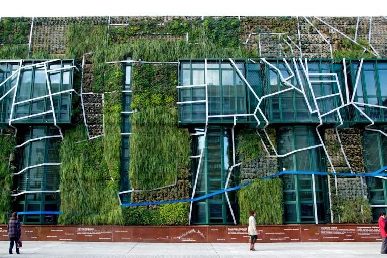 vertikaler garten gartengestaltung mit pflanzenwand in vitoria-gasteiz, Garten seite