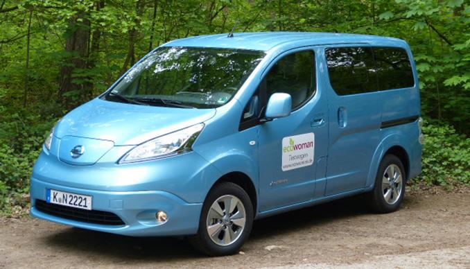 Ecowoman Testmobil Nissan e-NV 200