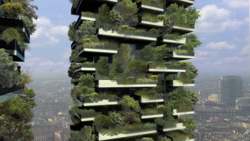Der vertikale wald ist ein nachhaltiges architektur projekt impressionen der nachhaltigen - Grune architektur ...