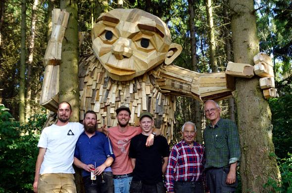 Six forgotten Giants von Thomas Dambo - 6 Giganten aus Altholz