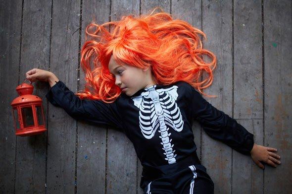 Einer der Top Verkleidungen für Kinder an Halloween: Skelett