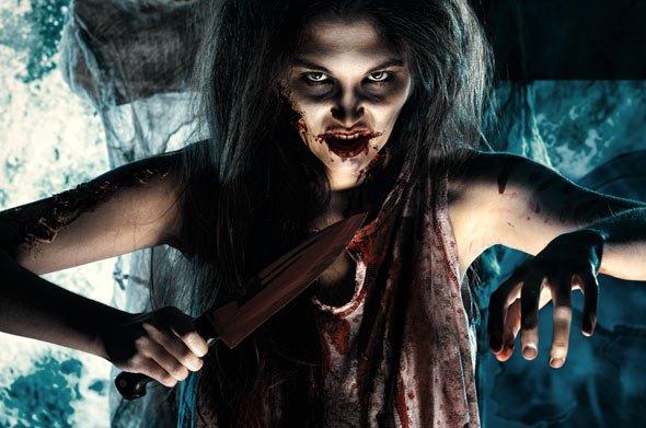 Geht es gruseliger? Zombie Braut an Halloween