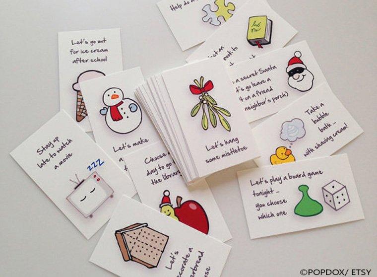 Wunderbare Idee: Aktionskarten, um das Warten auf Weihnachten zu verkürzen