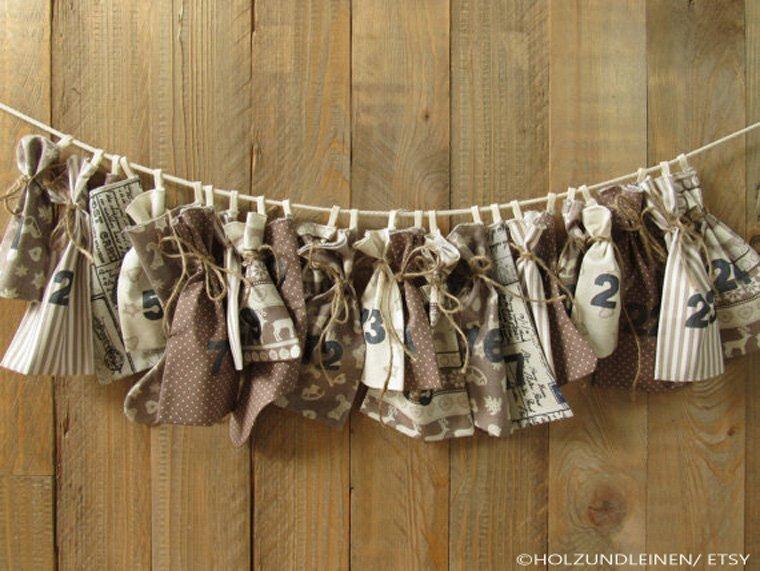 Die kleinen Baumwollsäckchen passen besonders gut zum Landhausstil