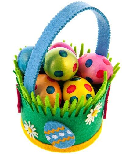 Eierkörbchen selbst machen. Eine Bastelanleitung finden Sie weiter unten.