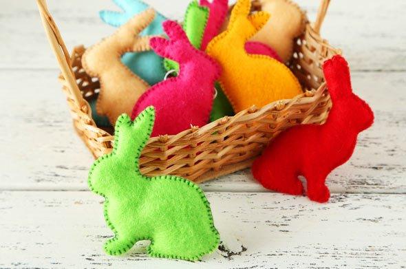 Ob als Huhn, Küken oder als Häschen, Deko Artikel aus Filz sind angesagter denn je