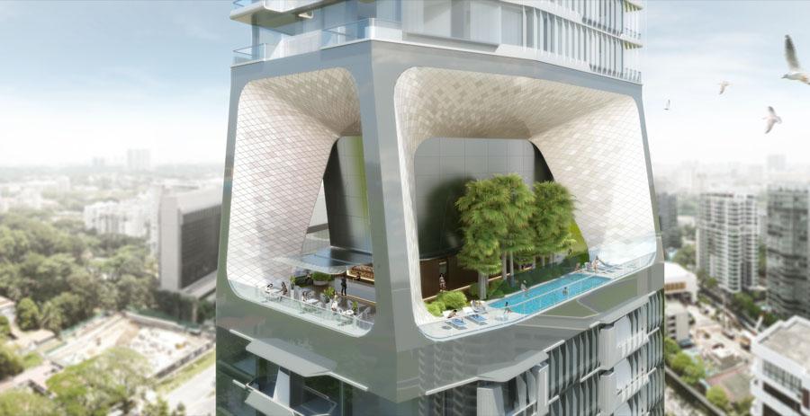 Nachhaltig Bauen scotts tower in singapur nachhaltig bauen mit vertikaler stadt