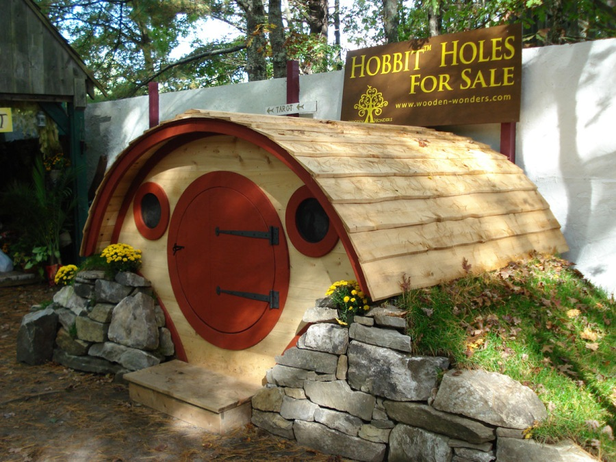 hobbit hole von wooden wonders vom h hnerstall bis zum wochenendhaus. Black Bedroom Furniture Sets. Home Design Ideas