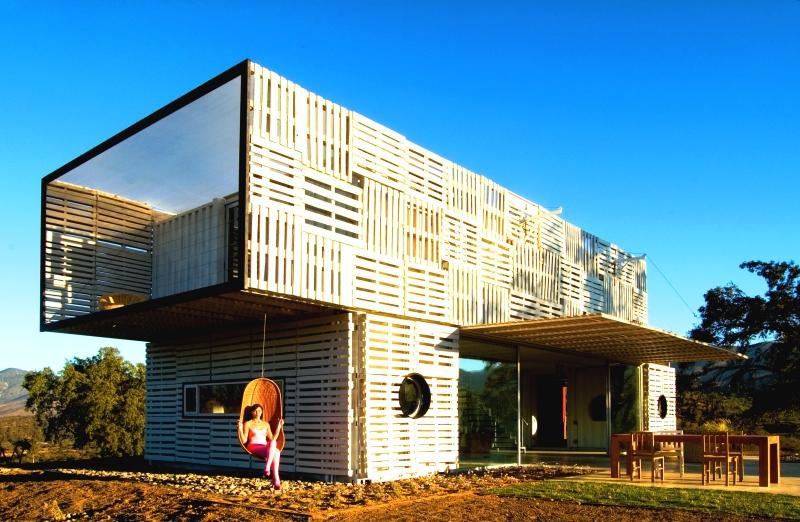 infinski architekten und nachhaltig bauen mit containern und paletten - Container Architektur