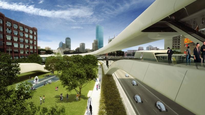 Spektakuläre Architektur für urbane, nachhaltige Mobilität der Zukunft