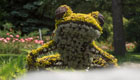 Grüner Zauberpark der Montreal Mosaiculture