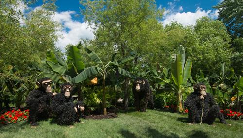 nachhaltige garten kunst skulpturen pflanzen, gartenkunst in montreal zum mosaiculture wettbewerb, Design ideen