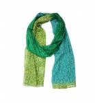 Schal Rana gelb-grün-blau