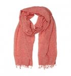 Schal Baumwolle rot-weiß