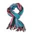 Schal blau-schwarz gestreift