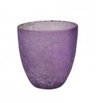 Teelichthalter lila