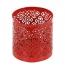 Teelichthalter Ornament rot