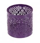 Teelichthalter Ornament lila