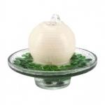 Baldini Duftbrunnen TaoViva creme weiß mit grünen Steinen
