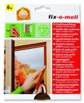 Fix O Moll Fensterdichtung / Türdichtung, E-Profil, braun, 6m