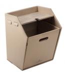 Grünspar PAK - Papierkorb aus Pappe mit Schmierblattablage