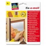 Fix O Moll Schaumstoff Fensterdichtung / Türdichtung, braun 6m