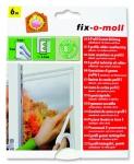 Fix O Moll Fensterdichtung / Türdichtung, D-Profil, weiß, 6m