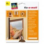 Fix O Moll Fensterdichtung / Türdichtung, D-Profil, braun, 6m