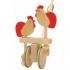 BAJO Holzspielzeug - Hüpfende Hühner mit Stab